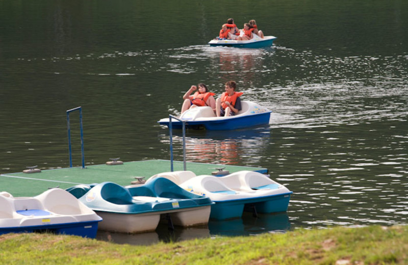 Paddle boats at The Alpine Inn.