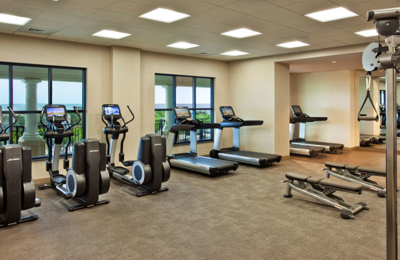 Fitness center at Westin Jekyll Island