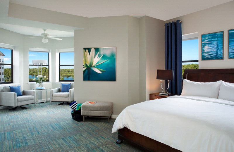 Guest room at The Grove Resort & Spa.