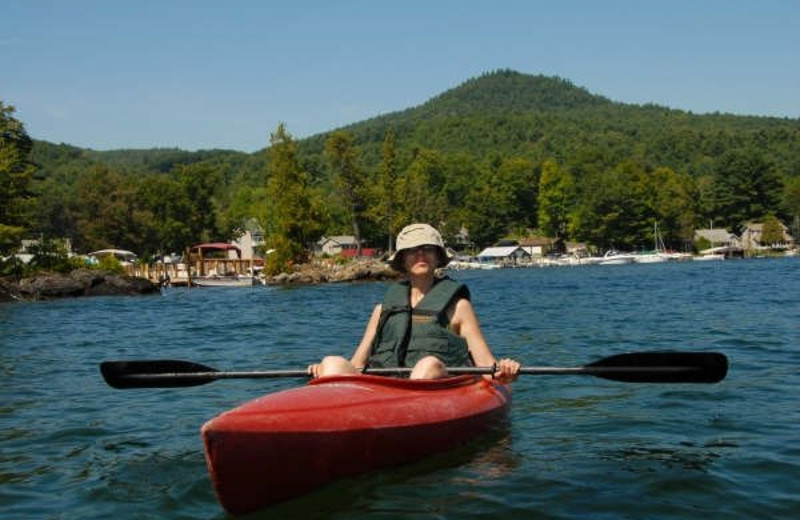Kayaking at Diamond Cove Cottages.