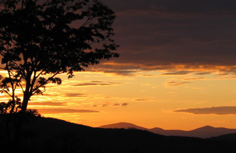Sunset at Franconia Notch Vacations Rental & Realty.