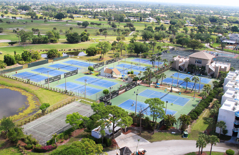 Tennis courts at Club Med Sandpiper.