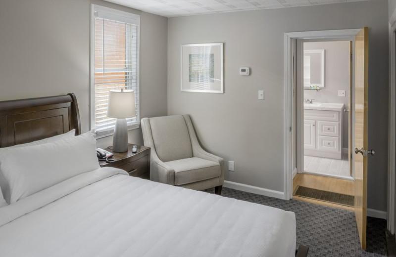 Guest room at Center Harbor Inn.