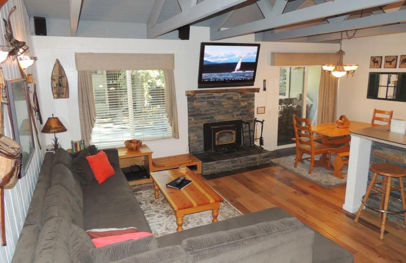 Rental living room at Seasons 4 Condominium Rentals.
