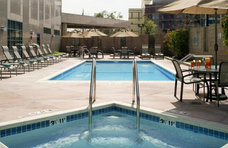 Outdoor pool at Sheraton Cerritos Hotel.