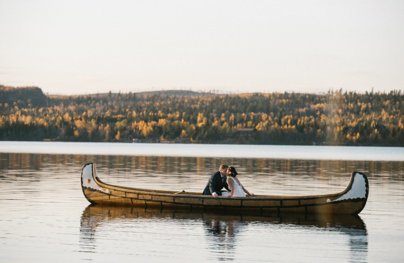 Canoe at Gunflint Lodge.