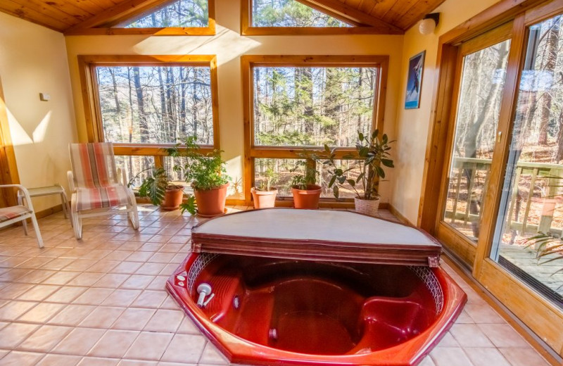 Rental hot tub at The Killington Group.