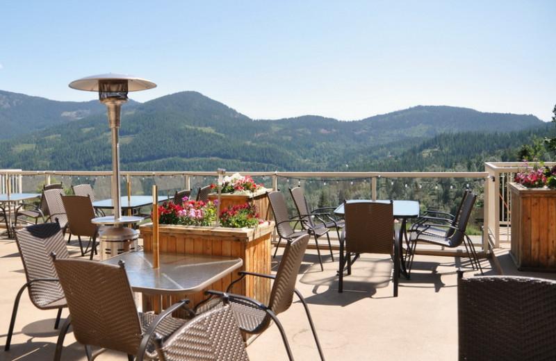 Patio at The Prestige Mountain Resort & Conference Centre.