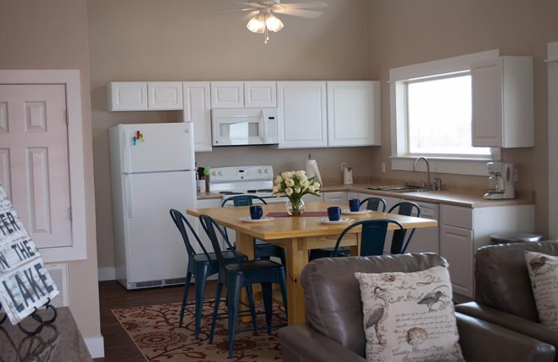 Cabin kitchen at D'Arbonne Pointe.