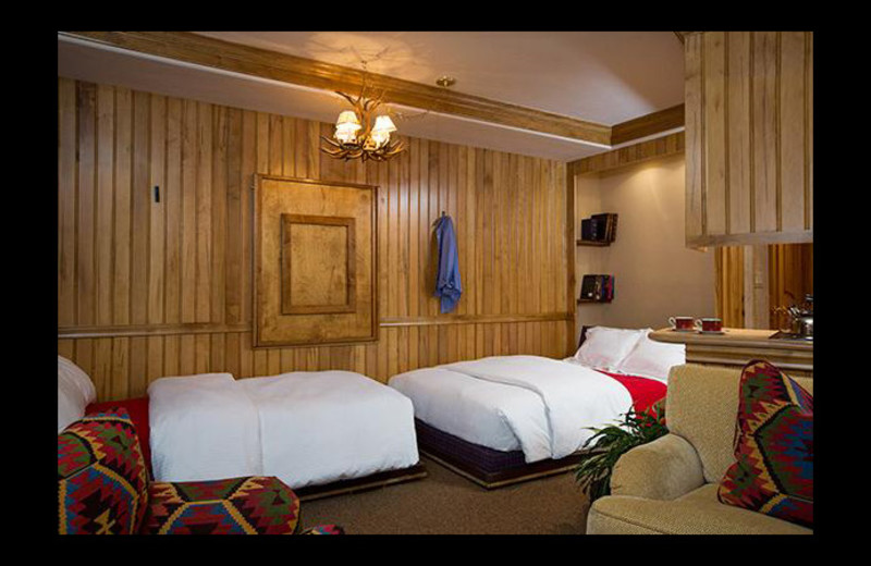 Guest bedroom at Chateau Beaver Creek.
