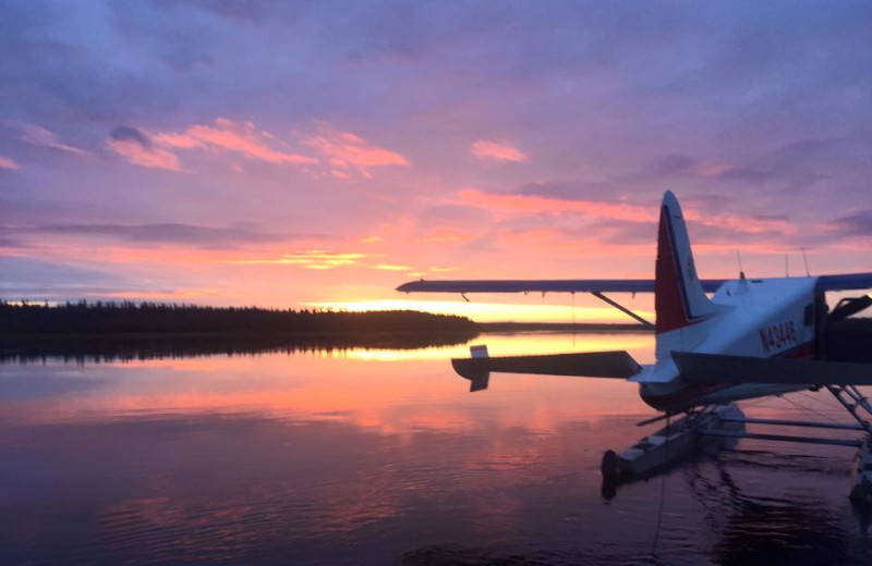 Sunset at Alaska Rainbow Lodge.