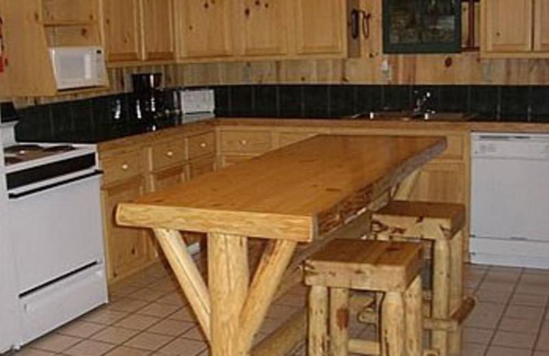 Cabin Kitchen at Edgewood Resort