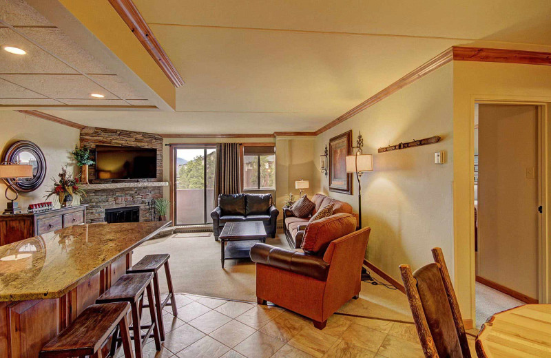 Guest living room at Beaver Run Resort & Conference Center.