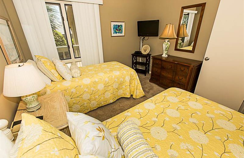 Guest bedroom at Sterling Resorts.
