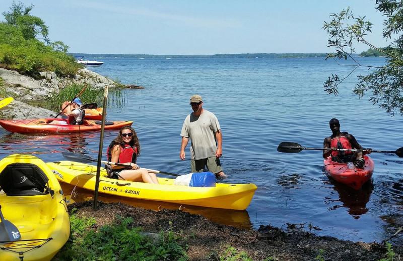 Kayaking at Riverbay Adventure Inn.