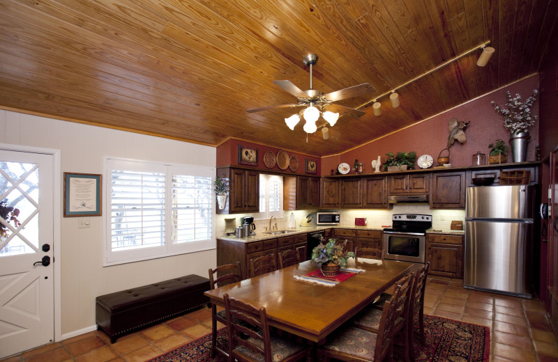 Guest kitchen at Joshua Creek Ranch.