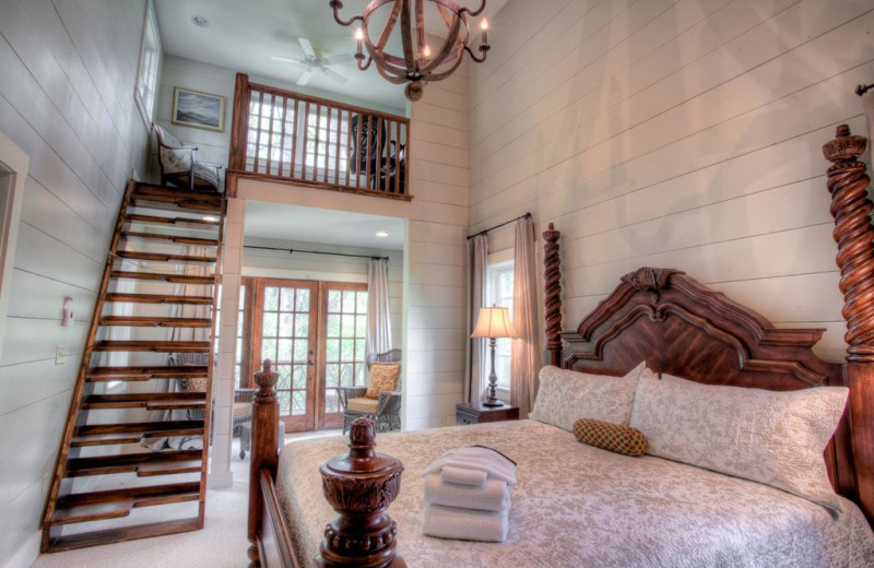 Rental bedroom at Yonder Luxury Vacation Rentals.