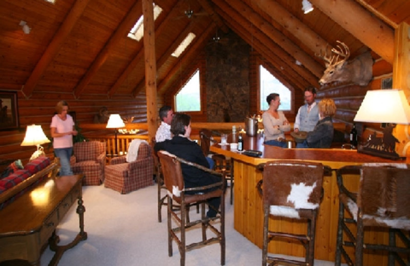 Lodge interior at The Hideout Lodge & Guest Ranch.