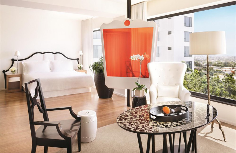 Guest room at Mondrian Los Angeles.