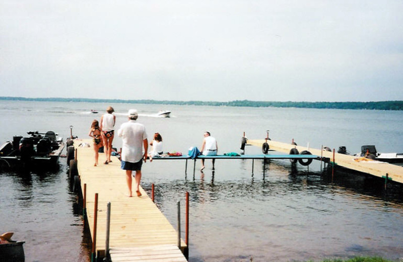 The dock at Battle View Resort.