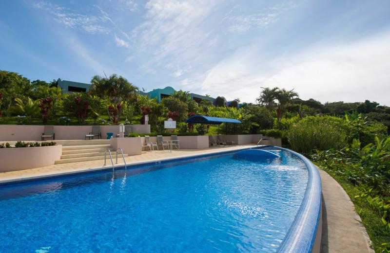 Outdoor pool at Xandari Plantation.