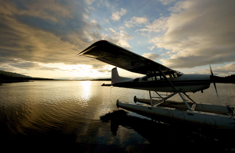 Boat plane on lake at Wilderness Air.