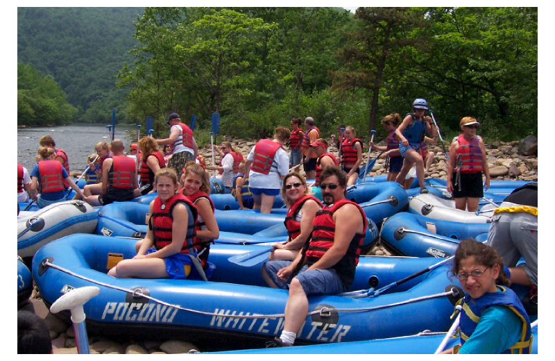 Rafting at Cabins-4-Rent.