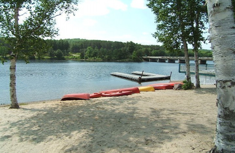 Beach at Algonquin Lakeside Inn.