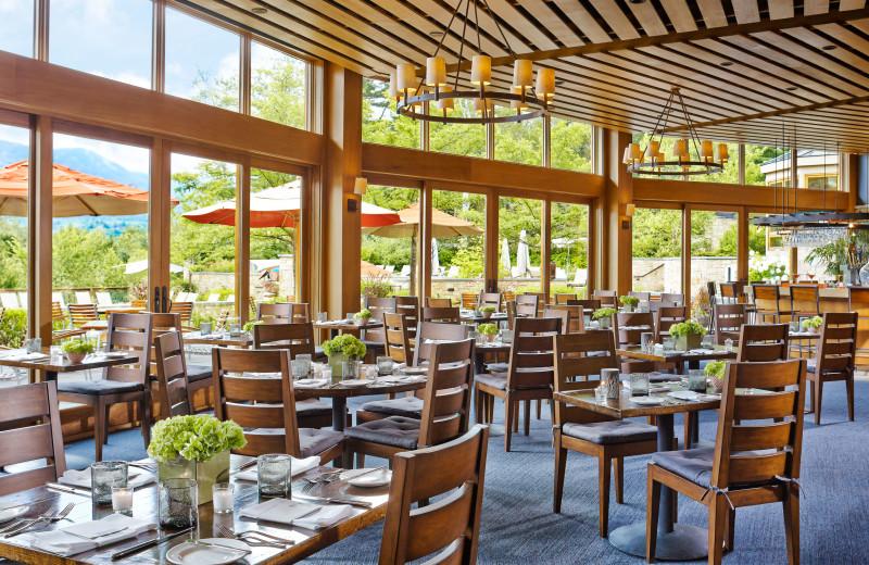 Flannel Restaurant at Topnotch Resort.