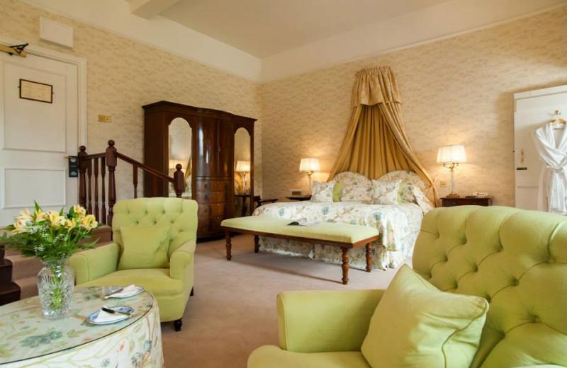 Guest room at Llangoed Hall.