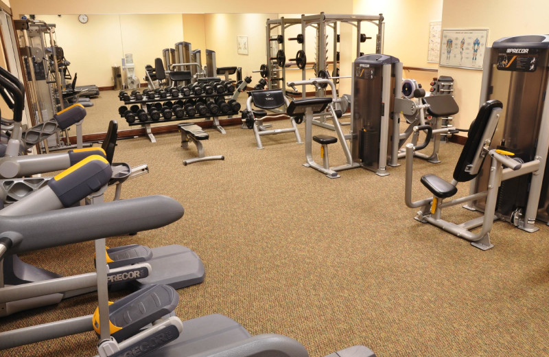 Fitness room at The Osthoff Resort.