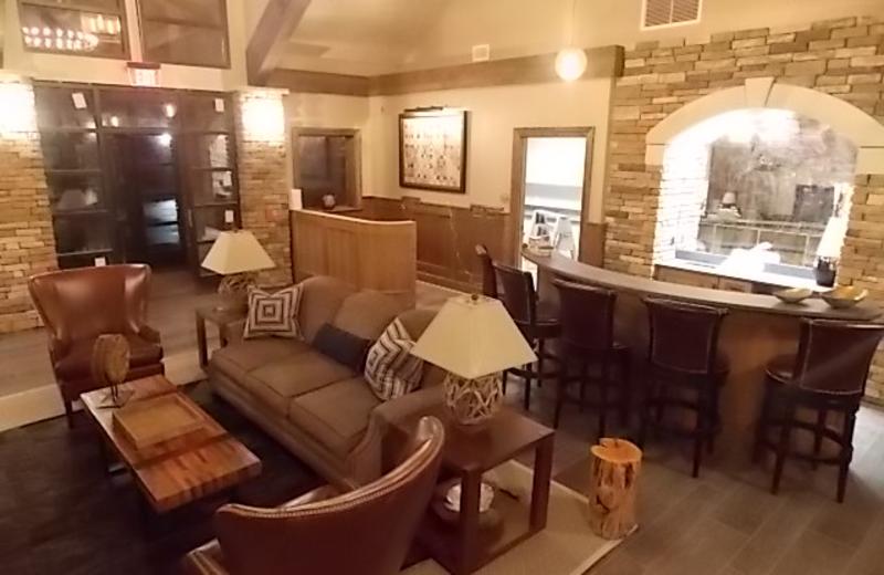Lobby at Fairway Suites.