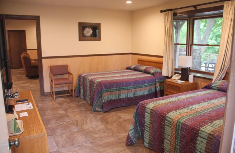 Guest bedroom at Gaston's White River Resort.
