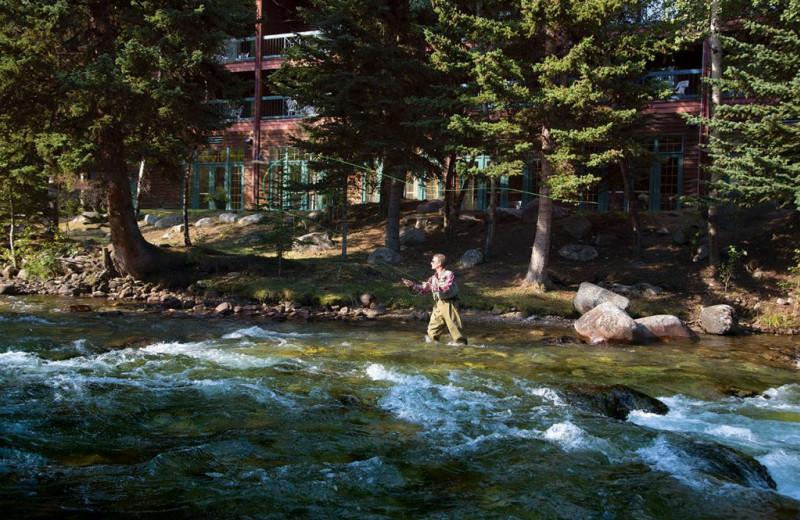Fishing at Rock Creek Resort.