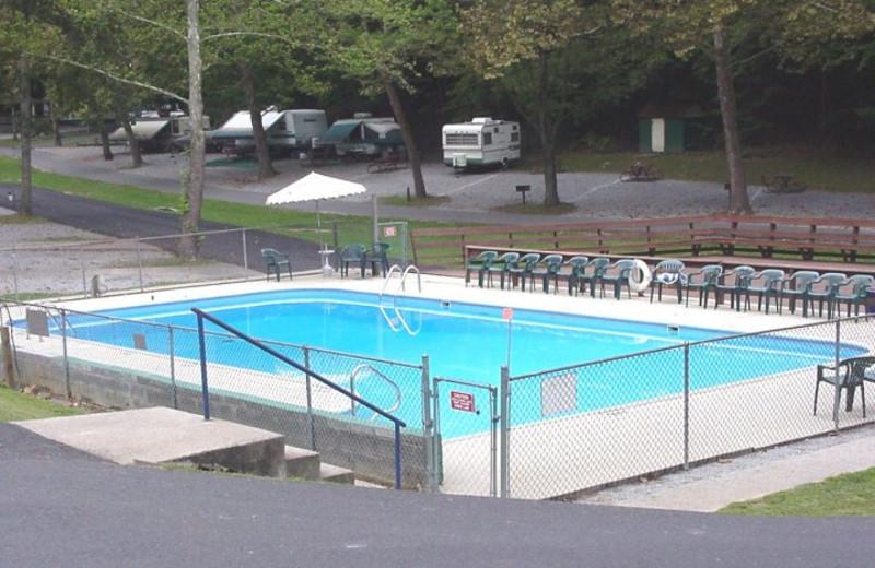 Outdoor pool at Holiday Hills Resort.