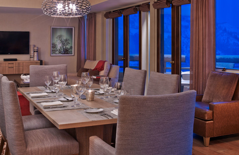 Guest suite dining room at The Westin Snowmass Resort.