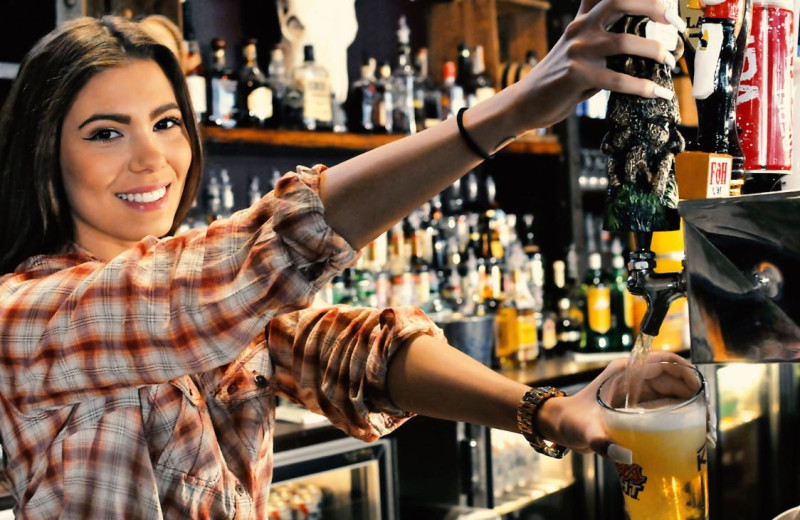 Bar tender at Mountain Creek Resort.