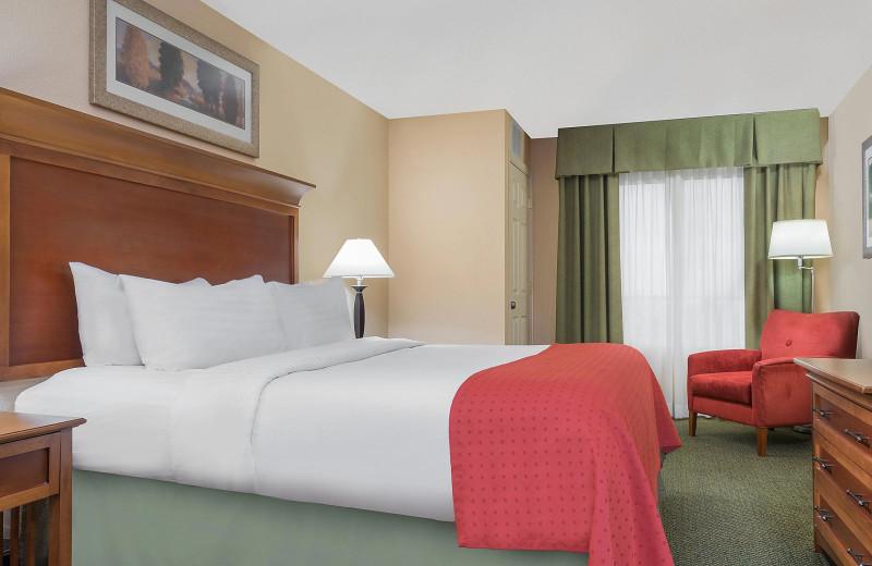 Guest room at Holiday Inn Minneapolis NW Elk River & Wild Woods Waterpark.