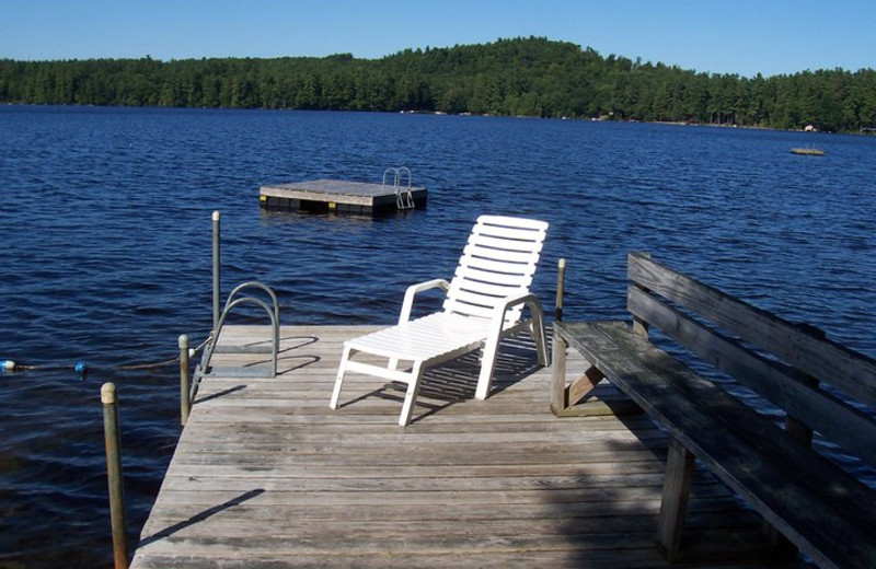 Lake dock at Highland Lake Resort.