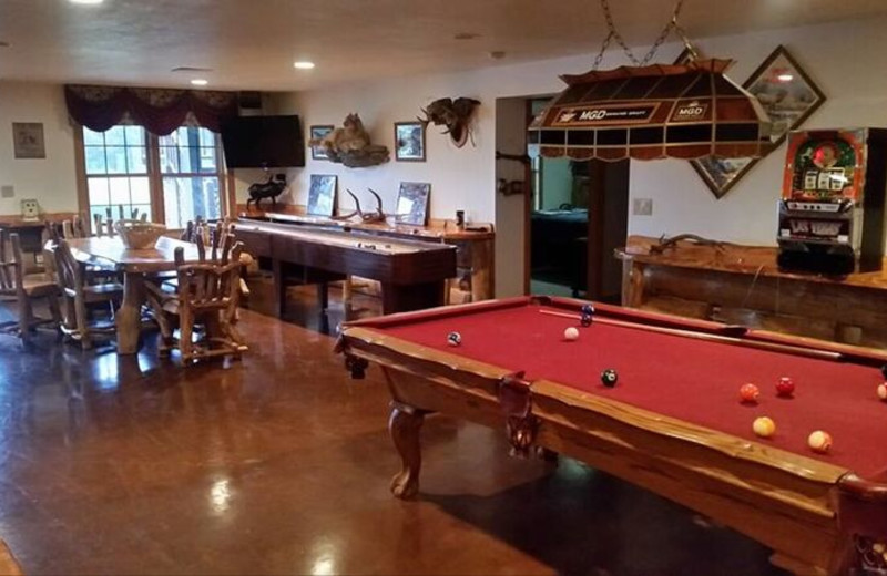 Recreation room at Deer Haven Acres.