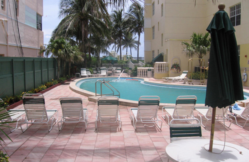 Pool view with lounge chairs at Westgate.