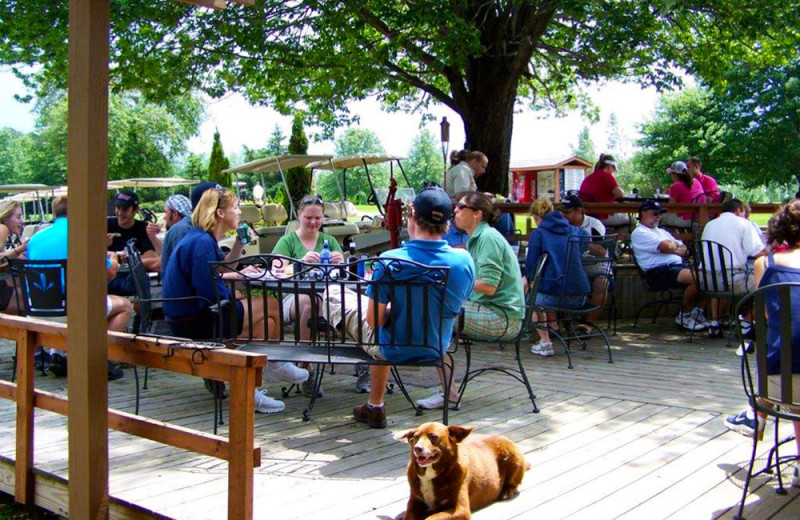 Patio at Spring Valley Golf and Lodge.
