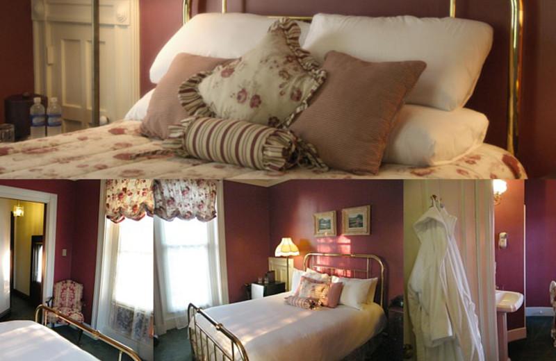President McKinley room at Batcheller Mansion Inn Bed and Breakfast.
