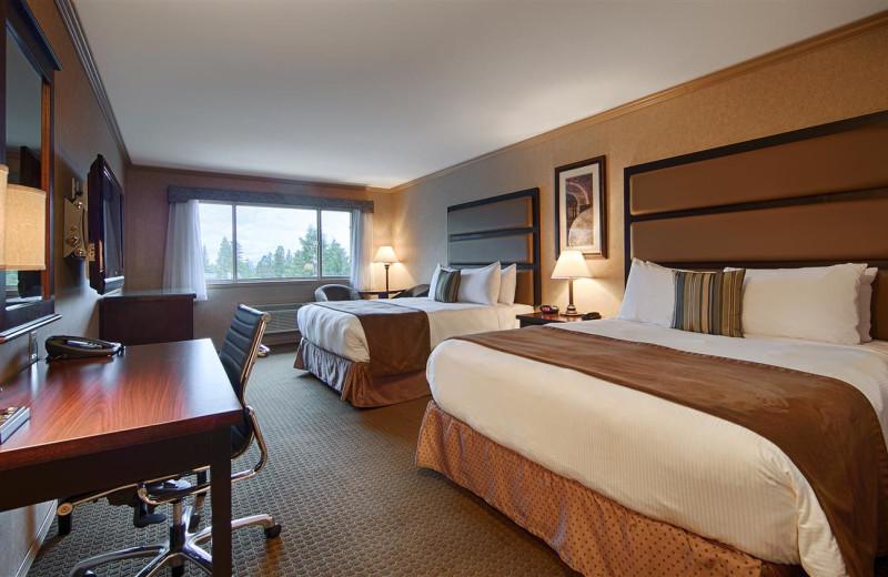 Guest room at Best Western Plus Prestige Inn Radium Hot Springs.
