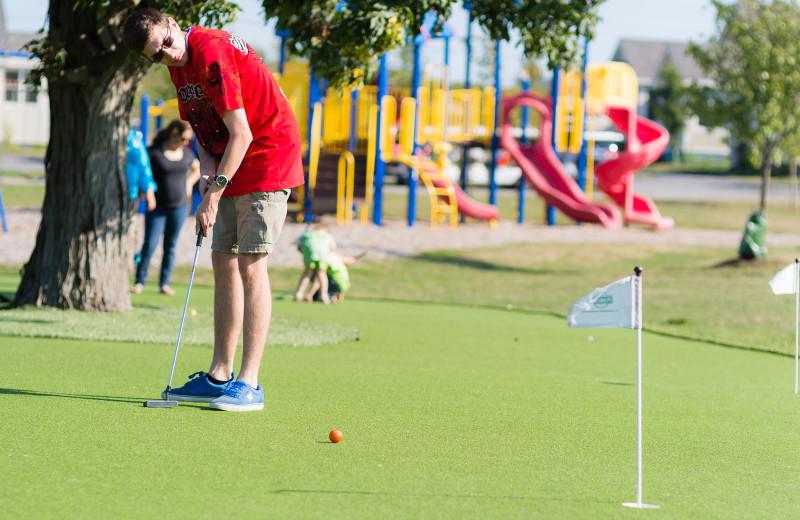 Golf at Sandbanks Summer Village Cottage Resort.