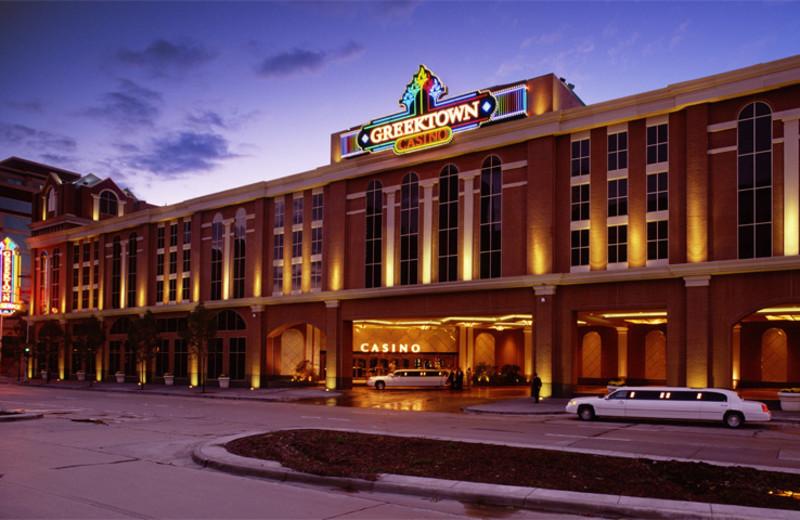 Exterior view of Greektown Casino Hotel.