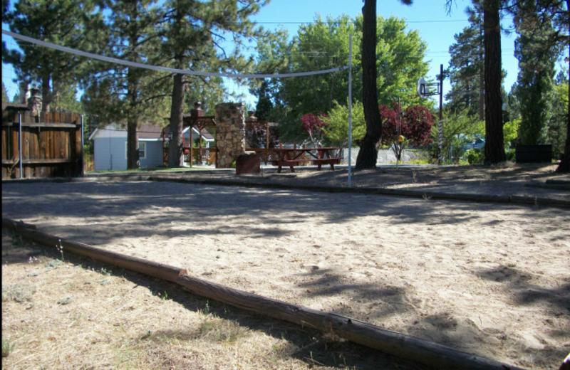 Volley ball court at Blue Horizon Lodge.
