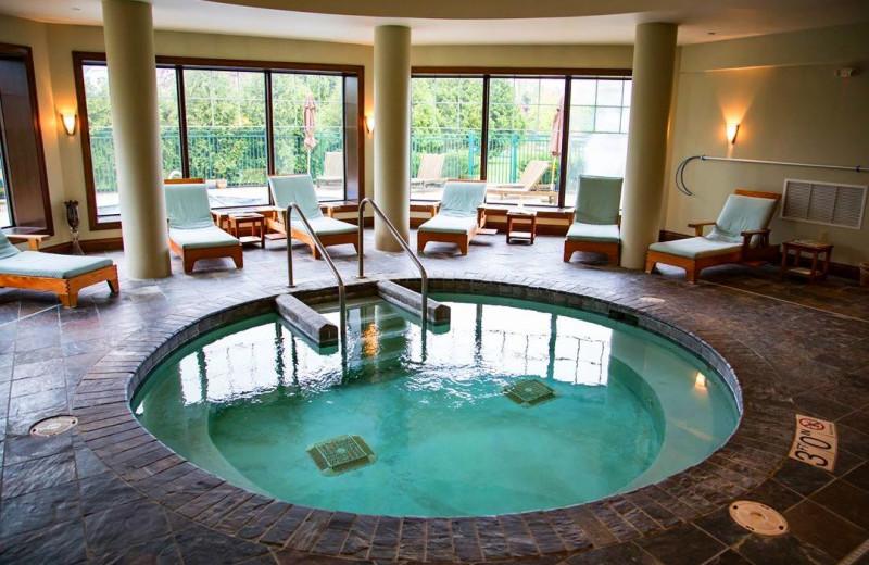 Hot tub at The Osthoff Resort.