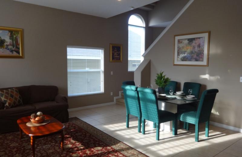 Rental dining area at Orlando Sunshine Villas.
