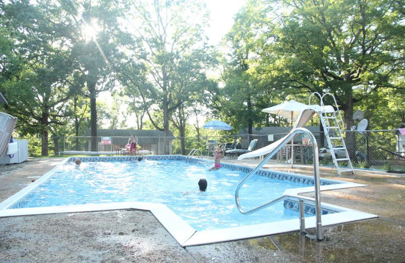 Outdoor pool at Bayou Resort.
